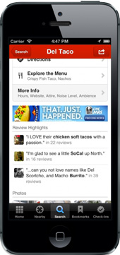 yelp restaurants on mobile phone