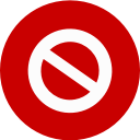 Warning red icon
