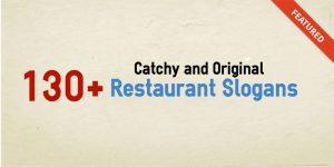 catchy original restaurant slogans